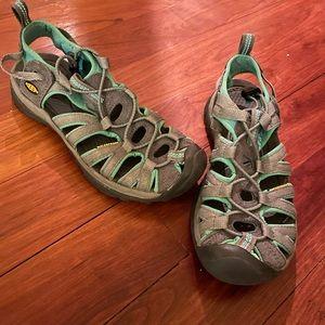 Keen Women's Waterproof Sandals. Gray and Teal